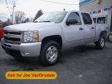 2011 Sheer Silver Metallic Chevrolet Silverado 1500 LT Crew Cab 4x4 #57447005