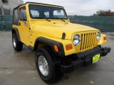 2000 Jeep Wrangler Solar Yellow