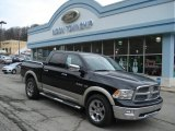 2010 Brilliant Black Crystal Pearl Dodge Ram 1500 Laramie Crew Cab 4x4 #57447111