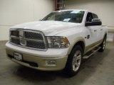 2012 Bright White Dodge Ram 1500 Laramie Longhorn Crew Cab 4x4 #57487006