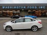 2012 White Platinum Tricoat Metallic Ford Focus Titanium Sedan #57486701