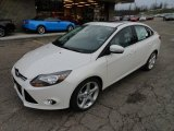 2012 Ford Focus White Platinum Tricoat Metallic