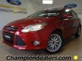 2012 Red Candy Metallic Ford Focus SEL Sedan #57486398
