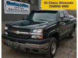 2003 Dark Green Metallic Chevrolet Silverado 2500HD LS Extended Cab 4x4 #57486628