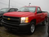 2010 Victory Red Chevrolet Silverado 1500 Regular Cab #57486915