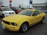 2005 Screaming Yellow Ford Mustang V6 Deluxe Coupe #57486908