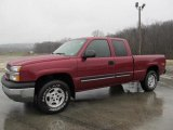 2004 Sport Red Metallic Chevrolet Silverado 1500 Z71 Extended Cab 4x4 #57486615