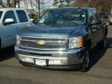 2012 Blue Granite Metallic Chevrolet Silverado 1500 LS Crew Cab #57486281