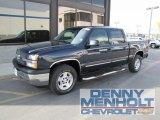 2005 Dark Blue Metallic Chevrolet Silverado 1500 Z71 Crew Cab 4x4 #57486781