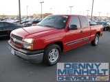 2005 Victory Red Chevrolet Silverado 1500 LS Extended Cab #57540082