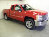 2012 Victory Red Chevrolet Silverado 1500 LT Extended Cab #57540056