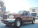 2004 Dark Toreador Red Metallic Ford F250 Super Duty XLT SuperCab #57539707