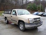 2004 Sandstone Metallic Chevrolet Silverado 1500 LS Regular Cab 4x4 #57539653