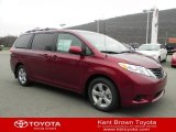2012 Salsa Red Pearl Toyota Sienna LE #57540286