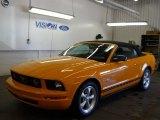 2007 Grabber Orange Ford Mustang V6 Deluxe Convertible #57610706