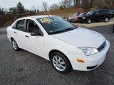 2005 Cloud 9 White Ford Focus ZX4 SE Sedan #57611114