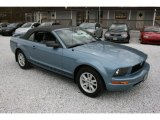 2006 Windveil Blue Metallic Ford Mustang V6 Deluxe Convertible #57611065
