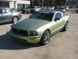 2005 Legend Lime Metallic Ford Mustang V6 Deluxe Coupe #57610475