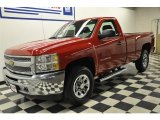 2012 Victory Red Chevrolet Silverado 1500 Work Truck Regular Cab 4x4 #57610871