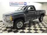 2012 Blue Granite Metallic Chevrolet Silverado 1500 LS Regular Cab #57610870
