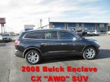 2008 Carbon Black Metallic Buick Enclave CXL AWD #57610821
