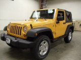 2012 Dozer Yellow Jeep Wrangler Sport S 4x4 #57610811