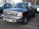2012 Blue Granite Metallic Chevrolet Silverado 1500 Work Truck Regular Cab 4x4 #57695437