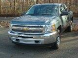 2012 Blue Granite Metallic Chevrolet Silverado 1500 LS Crew Cab 4x4 #57695431