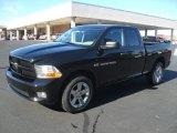 2012 Black Dodge Ram 1500 Express Quad Cab 4x4 #57696163