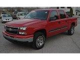 2006 Victory Red Chevrolet Silverado 1500 LS Crew Cab 4x4 #57696155