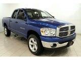 2007 Electric Blue Pearl Dodge Ram 1500 Big Horn Edition Quad Cab 4x4 #57696145