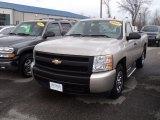 2007 Sandstone Metallic Chevrolet Silverado 1500 Work Truck Regular Cab #57696124
