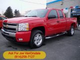 2011 Victory Red Chevrolet Silverado 1500 LT Extended Cab 4x4 #57695618