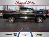 2008 Brilliant Black Crystal Pearl Dodge Ram 1500 Laramie Quad Cab 4x4 #57695554