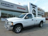 Bright White Dodge Ram 1500 in 2002