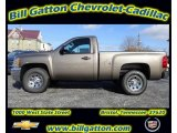 2012 Mocha Steel Metallic Chevrolet Silverado 1500 Work Truck Regular Cab 4x4 #57788376