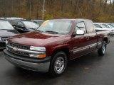 2001 Dark Carmine Red Metallic Chevrolet Silverado 1500 LS Extended Cab #57788327