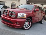 2006 Inferno Red Crystal Pearl Dodge Ram 1500 SRT-10 Quad Cab #57788192