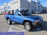 2004 Atlantic Blue Pearl Dodge Dakota SXT Regular Cab 4x4 #57787998