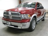 2012 Deep Cherry Red Crystal Pearl Dodge Ram 1500 Laramie Crew Cab 4x4 #57816970