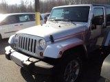 2012 Bright Silver Metallic Jeep Wrangler Sahara 4x4 #57823357