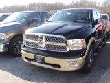 2012 Black Dodge Ram 1500 Laramie Longhorn Crew Cab 4x4 #57823356