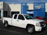 2008 Summit White Chevrolet Silverado 1500 LT Extended Cab 4x4 #57823108