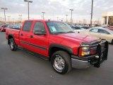 2005 Victory Red Chevrolet Silverado 1500 LT Crew Cab 4x4 #57823335
