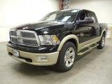 2012 Black Dodge Ram 1500 Laramie Longhorn Crew Cab 4x4 #57823532