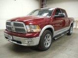 2012 Deep Cherry Red Crystal Pearl Dodge Ram 1500 Laramie Longhorn Crew Cab 4x4 #57823530