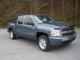 2009 Blue Granite Metallic Chevrolet Silverado 1500 LT Crew Cab 4x4 #57823507