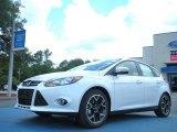 2012 White Platinum Tricoat Metallic Ford Focus Titanium 5-Door #57823030