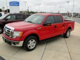 2010 Vermillion Red Ford F150 XLT SuperCrew #57823446