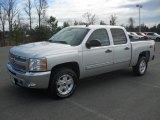 2012 Silver Ice Metallic Chevrolet Silverado 1500 LT Crew Cab #57823424
